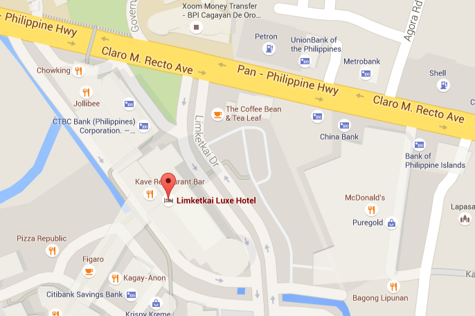 Cagayan Philippines Map.Limketkai Luxe Hotel In Cagayan De Oro Philippines Contact Us
